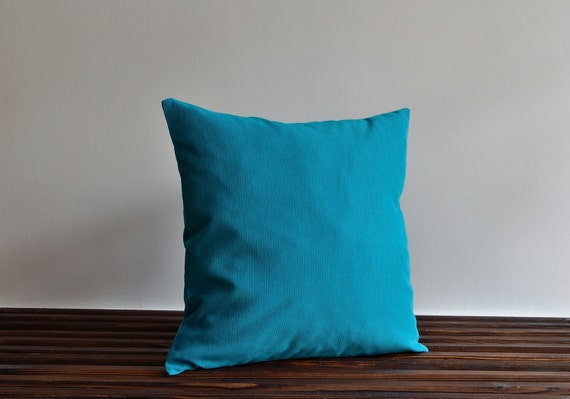 Floor Pillow Covers 25x25 : 28x28 Pillow Floor Pillow Cyan Pillow Cover Decorative