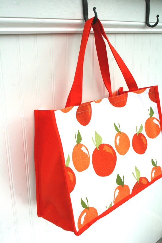 Oranges Farmers Market Bag - Tote - Shopping Bag - Orange - Eco-Friendly