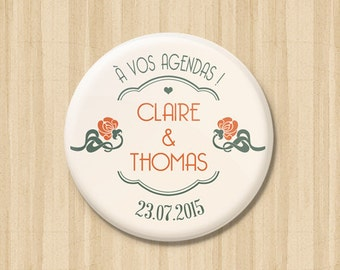 Art Deco Save the Date Magnets