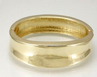 Brass cuff, bangle bracelet