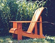 Adirondack Chair Plans - DXF files for CNC machines