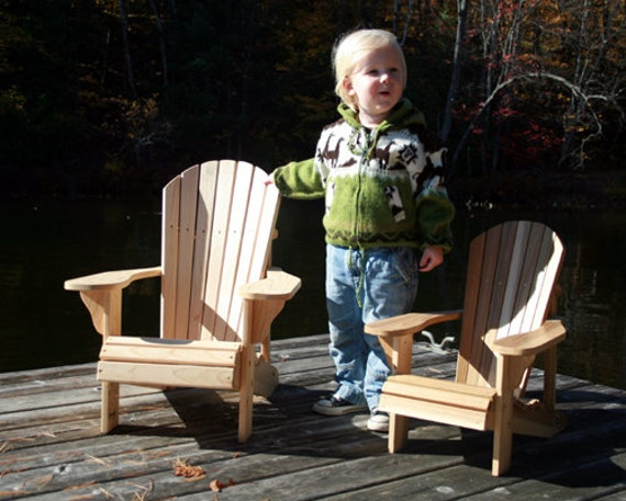 Junior size adirondack chair plans digital cad pdf for Small chair for kid