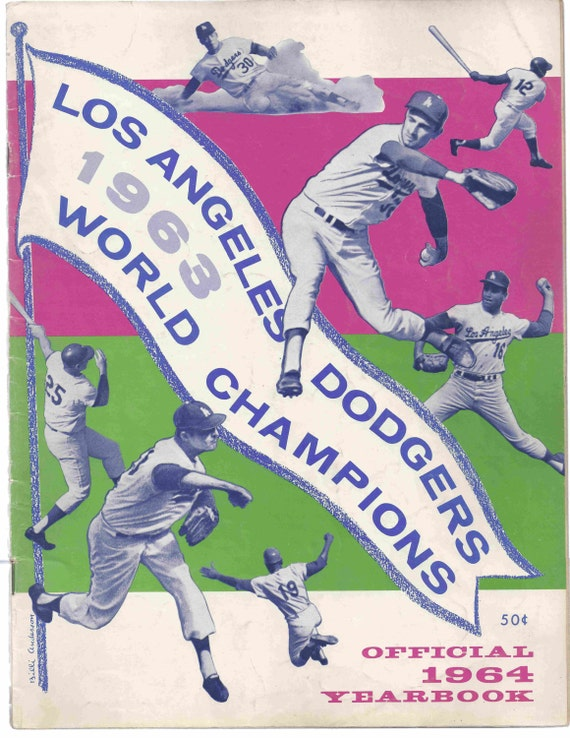 La Dodgers 1964 Yearbook 1963 World Champions