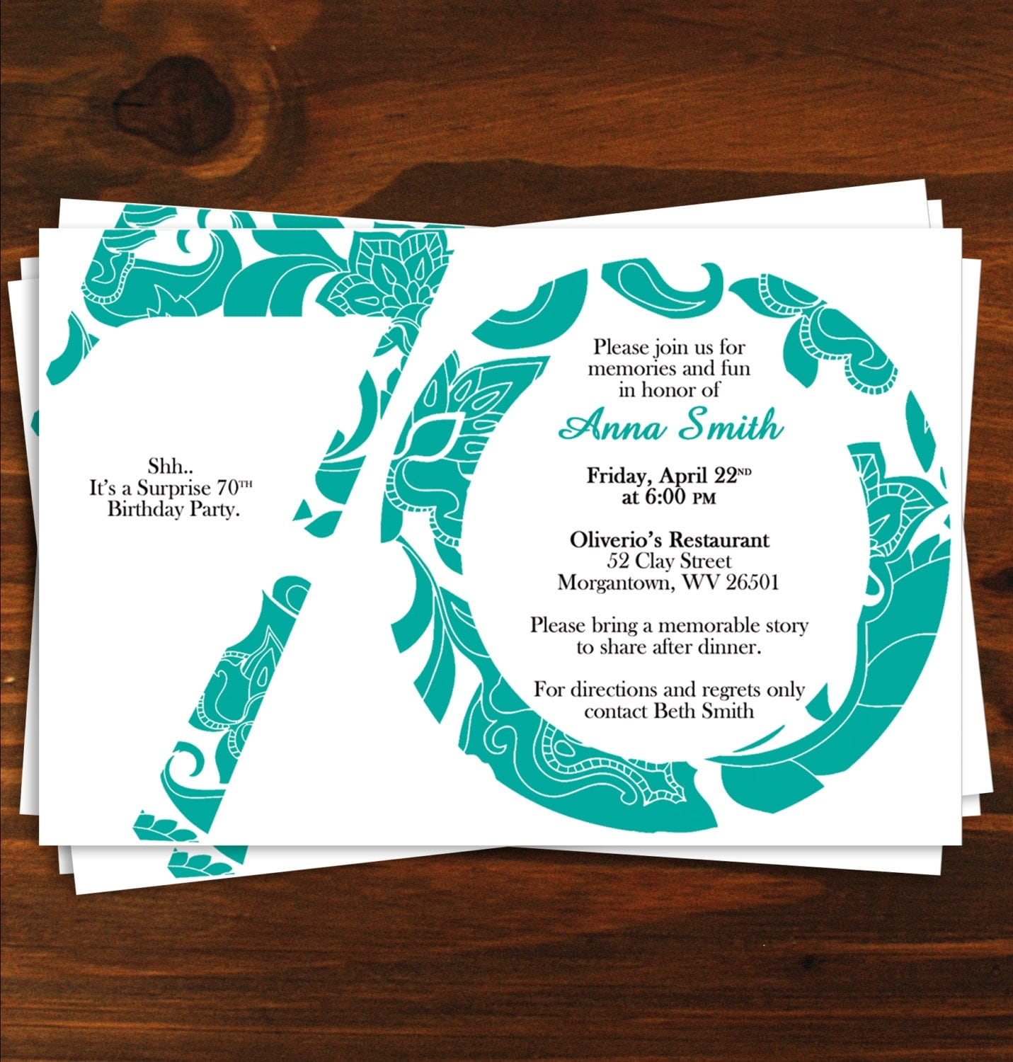 70Th Birthday Invite Templates with perfect invitations design