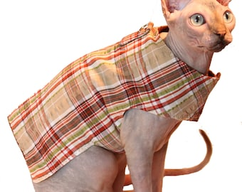 Cat Harness Sphynx Soft and Comfortable Shirt