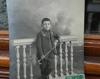 1913 French postcard with a child