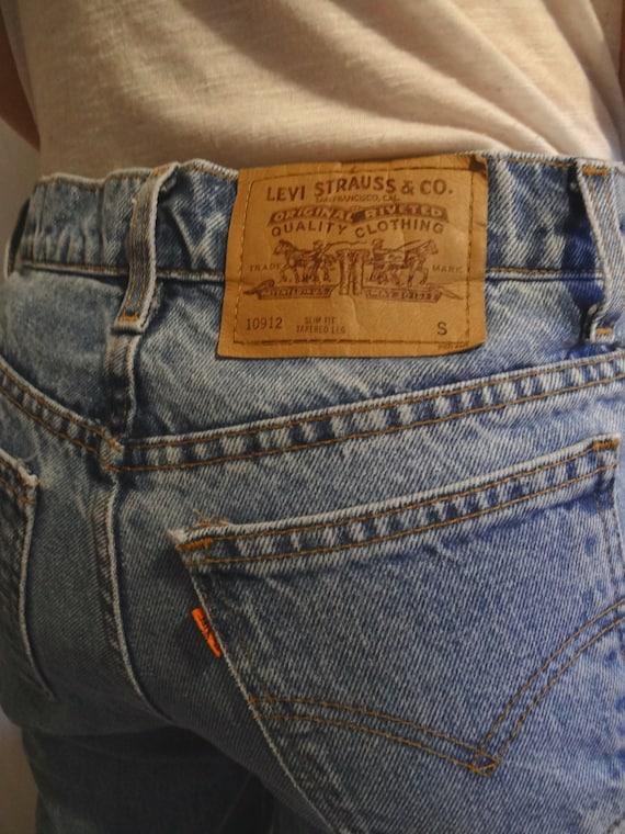 vintage levis jeans 80er jahre orange tag 912 gr e 3 von jazzjodi. Black Bedroom Furniture Sets. Home Design Ideas