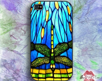 Tiffany Style Stained Glass Dragonfly - iPhone 4/4S 5/5S/5C/6/6+ and now iPhone 7 cases!! And Samsung Galaxy S3/S4/S5/S6/S7