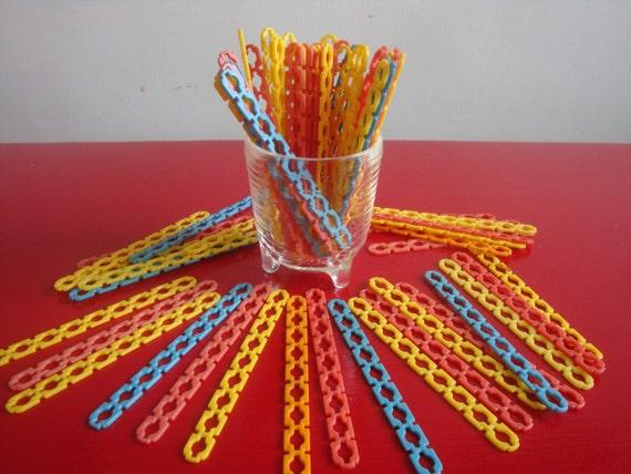 71 Vintage Plastic Elsie Popsicle Sticks