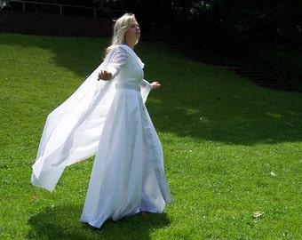Medieval Wedding Gown, white, wedding dress, middle age, romantic weddingdress