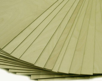 "1/4"" Baltic Birch Plywood 23 - 12"" x 12"" pieces of each. Scroll Saw, Laser, CNC plywood"