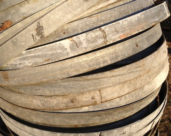 Galvanized Metal Wine Barrel Hoops- 3 pieces