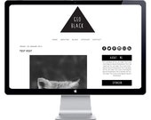 INSTANT DOWNLOAD - Geo Black Pre-made Blogger Template