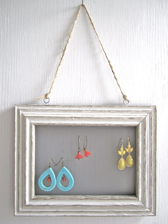 picture frame earring holder by baltimorebound on etsy