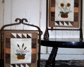 Autumn Minis Pattern - Tiny Wool on Cotton Applique Pattern