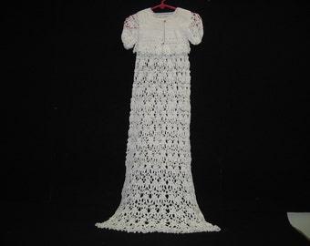 Blessing Christening Baptizim Baby Crochet Dress handmade