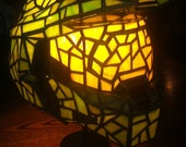 Halo Master Chief Stained Glass Desk Lamp