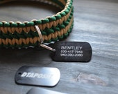 Custom Engraved Metal Dog Tag for Paracord Collars