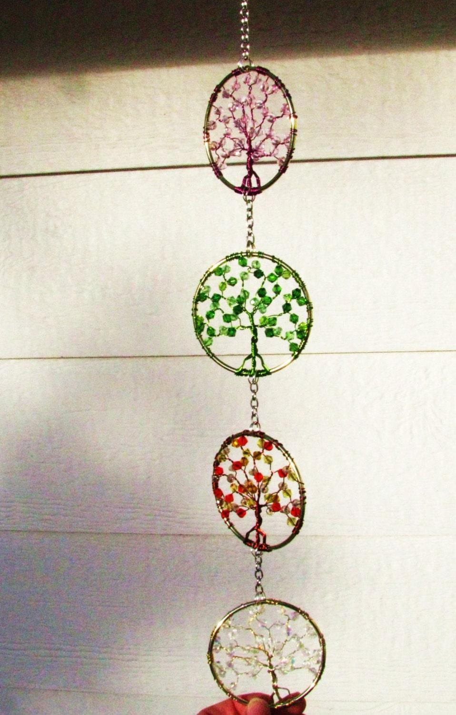 Four Seasons Tree Of Life Suncatcher