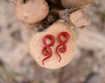 Red Velvet  Fake gauged earrings