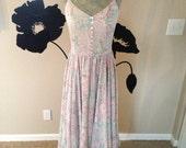 Vintage Ralph Lauren Paisley 100% Silk Long Dress ON SALE NOW
