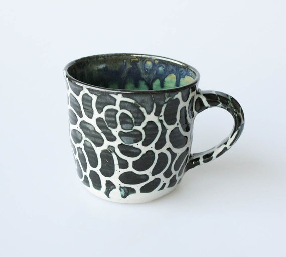 Black Stoneware Ceramic Mug