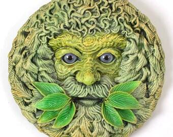 Green Man Plaque 'Forest Spirit' Summer