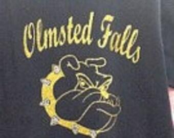 Custom Bulldogs glitter and rhinestone fitted t-shirt