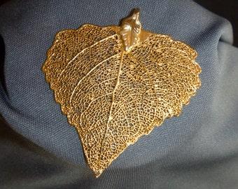 Gold plated Leaf Pendant