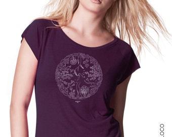 WHEEL OF LIFE organic cotton and bamboo tee shirt