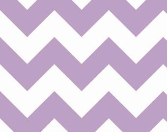 Riley Blake Large Lavender Chevron Fabric- 1/2 yard