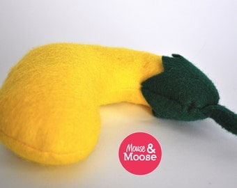 Eco Friendly 100% Wool felt play Squash for play kitchens, play food, wool felt play food, felt squash, pretend play, kitchen accessory