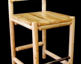 Log furniture saloon bar chair- Snow Creek