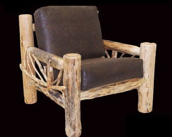 Log furniture Rustic Snow Bend Branch Easy chair