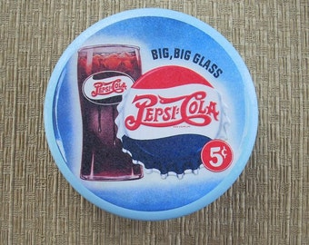 SALE ITEM: Pepsi Tin Big, Big Glass 5 cents