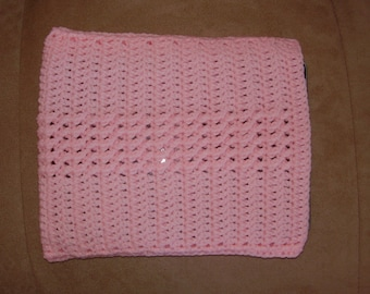 Crochet iPad / tablet case/sleeve - pink