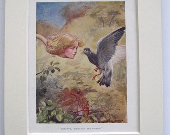 ORIGINAL 1928 Alice in Wonderland print (Book Plate) by George Soper