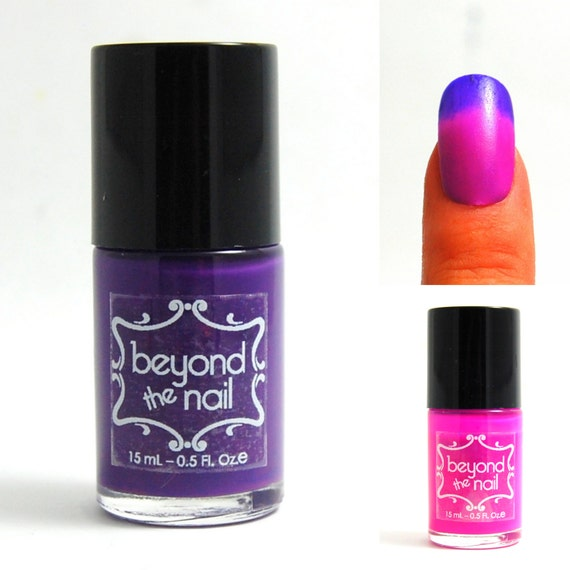 Purple to Pink Thermal Color Change Nail Polish