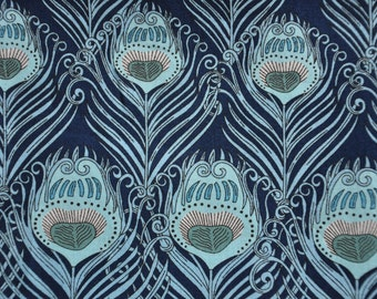 Liberty Tana Lawn fabric- Caesar -Blue Fat Quarter 18'' x 26''