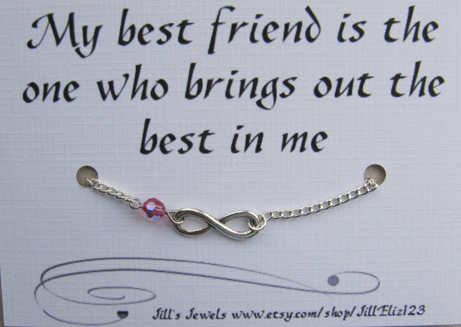 Quotes About Best Friends Gift : Best friend bracelet gift infinity charm