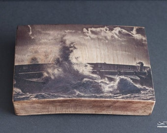Brighton Marina - wave crash