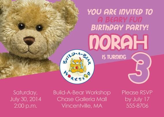 Build A Bear Workshop Printable Invitations