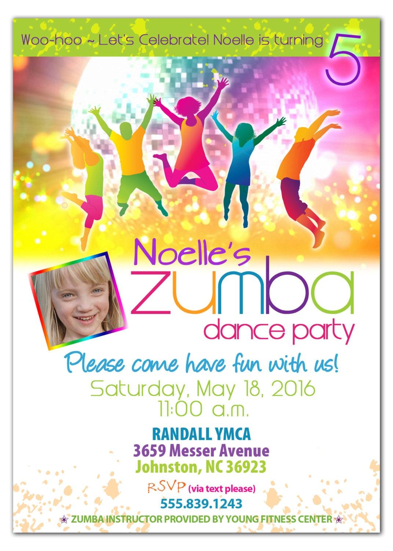 Zumba Party Invitation Zumba Dance Party Printable Zumba