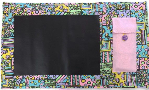 Chalkboard, framed chalkboard, handmade childrens travel chalk board, kids homemade roll up chalkboard reusable chalkboard fabric