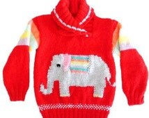 Popular items for elephant sweater on Etsy