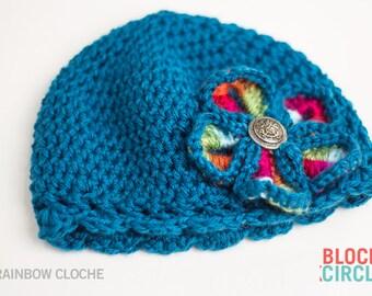 Rainbow Cloche Cap