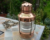 Vintage Rare Ankerlicht Copper Nautical Lamp