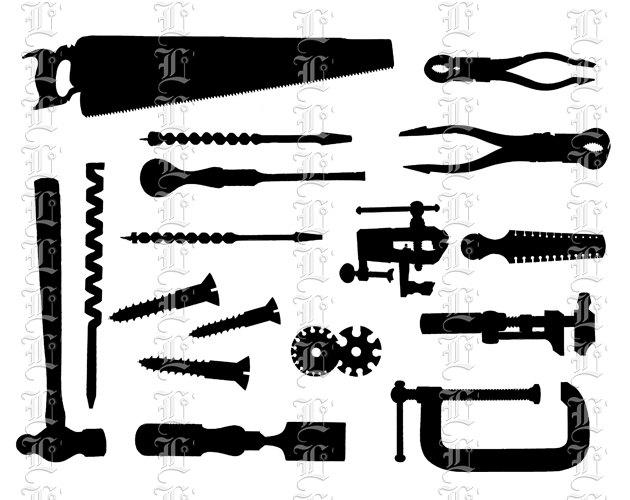 Similiar Carpentry Clip Art Silhouette Keywords