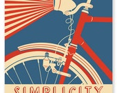 Simplicity is the Key to  Successful Living: Satin A1 Poster Print