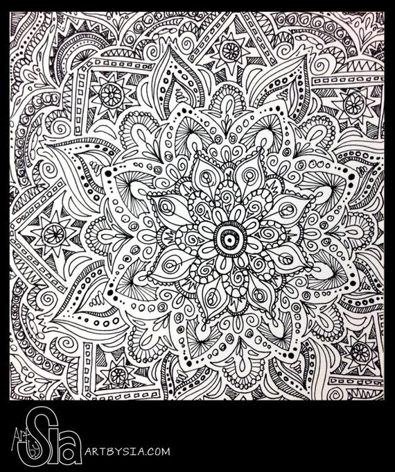 Scribble Google Drawing : Original zentangle doodle drawing modern abstract art pen